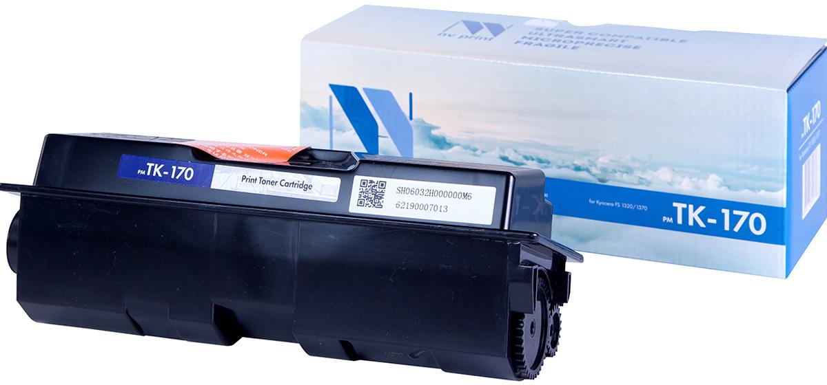 NV Print NV-TK170, Black тонер-картридж для Kyocera FS-1320/1320N/1320DN/1370/1370N/1370DN/P2135d/P2135dnNV-TK170Совместимый лазерный картридж NV Print NV-TK170 для печатающих устройств Kyocera - это альтернатива приобретению оригинальных расходных материалов. При этом качество печати остается высоким. Картридж обеспечивает повышенную чёткость чёрного текста и плавность переходов оттенков серого цвета и полутонов, позволяет отображать мельчайшие детали изображения. Лазерные принтеры, копировальные аппараты и МФУ являются более выгодными в печати, чем струйные устройства, так как лазерных картриджей хватает на значительно большее количество отпечатков, чем обычных. Для печати в данном случае используются не чернила, а тонер.