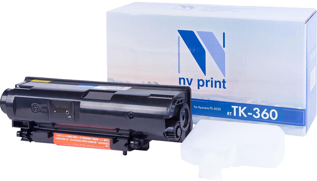 NV Print TK360, Black тонер-картридж для Kyocera FS-4020DN/4020NV-TK360Совместимый лазерный картридж NV Print TK360 для печатающих устройств Kyocera - это альтернатива приобретению оригинальных расходных материалов. При этом качество печати остается высоким. Картридж обеспечивает повышенную чёткость чёрного текста и плавность переходов оттенков серого цвета и полутонов, позволяет отображать мельчайшие детали изображения. Лазерные принтеры, копировальные аппараты и МФУ являются более выгодными в печати, чем струйные устройства, так как лазерных картриджей хватает на значительно большее количество отпечатков, чем обычных. Для печати в данном случае используются не чернила, а тонер.
