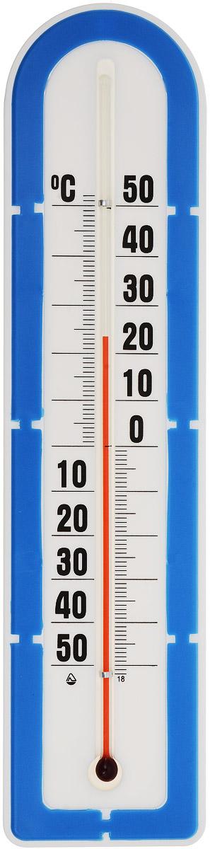 Термометр наружный Стеклоприбор, цвет: белый, синий. ТБН-3-М2 исп.5300180_синийТермометр наружный Стеклоприбор применяется для измерения температуры воздуха на улице. Корпус термометра выполнен из пластика, а колба изготовлена из ударопрочного стекла. Термометр оснащен широкой, подробной и наглядной шкалой. Изделие имеет широкий рабочий диапазон - от -50 до +50°С со шкалой деления в 10°С. Цена деления составляет 1°С. Изделие имеет специальное отверстие для крепления. Не содержит ртути. Термометр желательно устанавливать в местах, защищенных от прямых солнечных лучей.