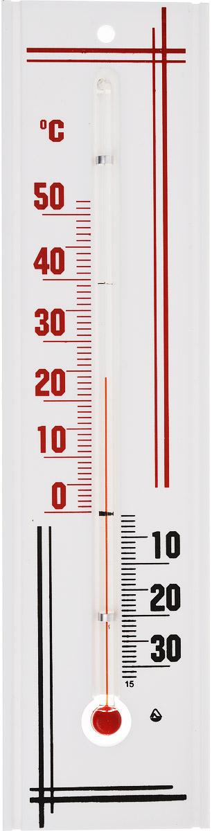 Термометр комнатный Стеклоприбор, цвет: белый, красный, черный. П-3300187_красныйТермометр комнатный Стеклоприбор применяется для измерения температуры воздуха в помещении. Термометр выполнен из пластика, а колба изготовлена из ударопрочного стекла. Термометр оснащен широкой, подробной и наглядной шкалой. Изделие имеет широкий рабочий диапазон - от -30 и до +50°С со шкалой деления в 10°С. Цена деления составляет 1°С. Изделие имеет специальное отверстие для крепления. Не содержит ртути. Для хорошего самочувствия и здоровья идеальный микроклимат в доме создаст температура +18…+24°С.