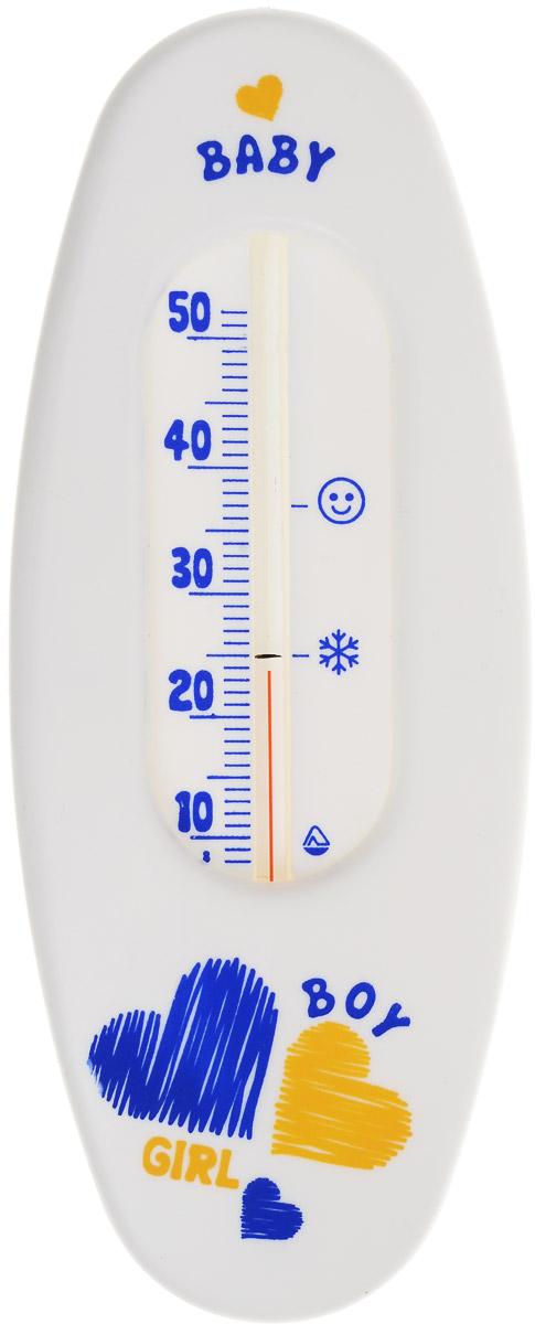 Термометр водный Стеклоприбор Сердце. В-1300146_белый, сердцеВодный термометр Стеклоприбор используется для измерения температуры воды, чаще всего при купании детей. Корпус термометра выполнен из пластика и имеет овальную форму, а колба изготовлена из ударопрочного стекла. Модель имеет наглядную шкалу с ценой деления в 1°С и широкий диапазон температур - от +10 до +50°С. На термометре есть отметка 37°С - оптимальная температура купания ребенка, а также отметка 25°С - минимальная температура для купания. Яркий и интересный, такой термометр для воды будет не просто измерительным прибором, но и безопасной игрушкой во время купания для ваших детей. Не содержит ртути.