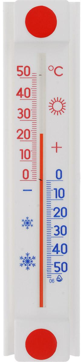 Термометр оконный Стеклоприбор Солнечный зонтик. ТБО исп.2300159Термометр оконный Стеклоприбор Солнечный зонтик снабжен специальной защитной планкой, которая защищает капилляр от нагревания при попадании на термометр прямых солнечных лучей. Эта особенность дает прибору следующие преимущества: - Максимальная точность измерений - нет нагрева капилляра, значит, нет и погрешности. - Возможность крепления термометра на солнечной стороне, сохраняя при этом точность измерений. - Широкий рабочий диапазон - от -50 и до +50°С со шкалой деления в 10°С. - Повышенный срок работы - в условиях прямого попадания лучей солнца такие измерители служат как минимум на 10% дольше обычных. При этом термометр данной серии оснащен надежным креплением (акриловой липучкой) и отличается оригинальным дизайном. А благодаря наглядной шкале ежедневное использование оконного термометра является максимально удобным. Цена деления шкалы: 1°С.
