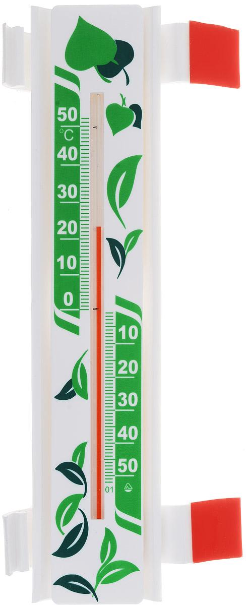 Термометр оконный Стеклоприбор Солнечный зонтик. Эко. ТБО исп.3300240Термометр оконный Стеклоприбор Солнечный зонтик, изготовленный из пластика, снабжен специальной защитной планкой, которая защищает капилляр от нагревания при попадании на термометр прямых солнечных лучей. Эта особенность дает прибору следующие преимущества: - Максимальная точность измерений - нет нагрева капилляра, значит, нет и погрешности. - Возможность крепления термометра на солнечной стороне, сохраняя при этом точность измерений. - Широкий рабочий диапазон - от -50 и до +50°С со шкалой деления в 10°С. - Повышенный срок работы - в условиях прямого попадания лучей солнца такие измерители служат как минимум на 10% дольше обычных. Термометр крепится к оконной раме при помощи 2 кронштейнов на акриловой липучке. Кронштейны позволяют прикрепить термометр на раму или стекло, как на правую, так и на левую сторону. Цена деления шкалы: 1°С.