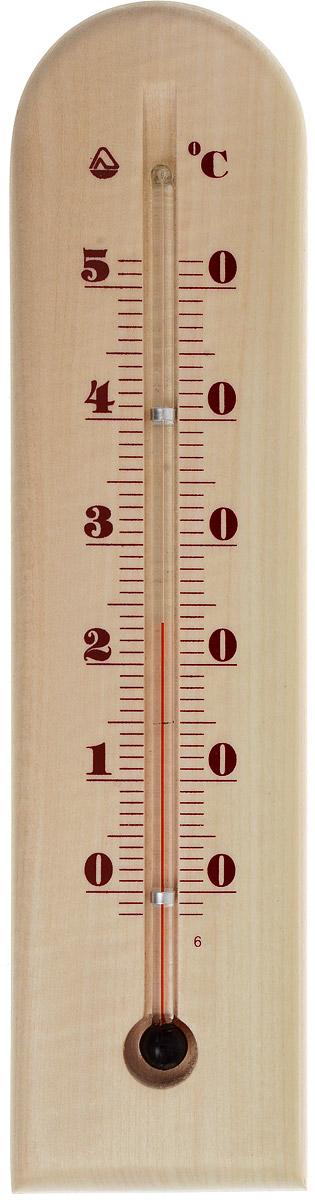 Термометр комнатный Стеклоприбор. Д-3-4300083Термометр комнатный Стеклоприбор применяется для измерения температуры воздуха в помещении. Термометр выполнен из дерева, а колба изготовлена из ударопрочного стекла. Термометр оснащен широкой, подробной и наглядной шкалой. Изделие имеет широкий рабочий диапазон - от 0 до +50°С со шкалой деления в 10°С. Цена деления составляет 1°С. Изделие имеет специальное отверстие для крепления. Не содержит ртути. Для хорошего самочувствия и здоровья идеальный микроклимат в доме создаст температура +18…+24°С.