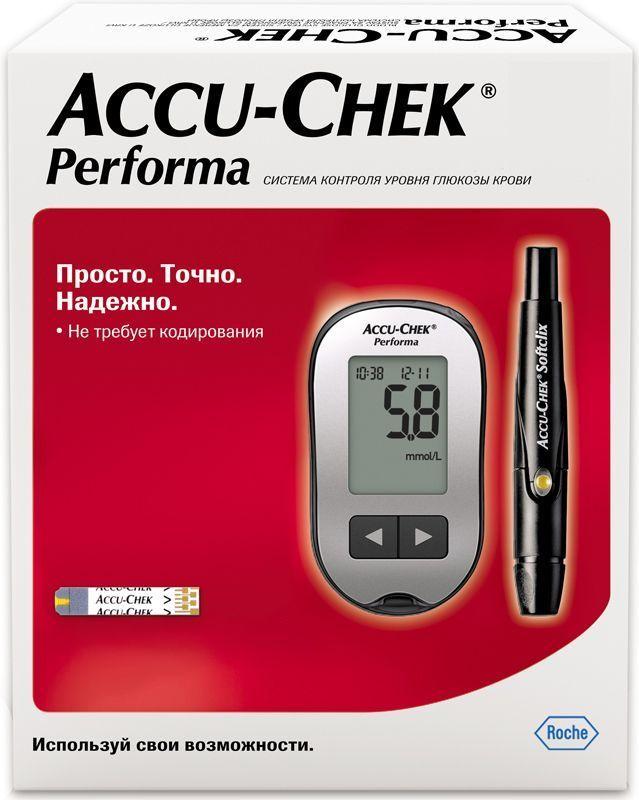 Глюкометр Accu-Chek Performa601Просто измерять - Не требует кодирования - Маленькая капля крови - Быстро заполняемая тест-полоска - Большой легко читаемый дисплей - 3 шага для проведения измерения без использования меню или кнопок Acc_Perform Просто доверять - Доказанная точность*, которой могут доверять врачи и пациенты, соответствует международному стандарту ISO 15197:2013 - Гарантия производителя на весь срок службы прибора и возможность бесплатной бессрочной замены Acc_Perform Просто обучать - Краткая инструкция с иллюстрациями для быстрого начала использования - Для начала измерений не требуется предварительной настройки или специального обучения - Обучающие видео-инструкции всегда доступны в Интернете Acc_Perform Просто управлять - Память на 500 измерений и средние значения за 7, 14, 30 и 90 дней - Напоминания об измерениях - Отметки до и после еды - Сообщения о гипогликемии Доверьте контроль своего уровня глюкозы крови простому,...