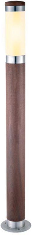Светильник уличный Duwi Stelo Wood, цвет: дерево, 880 мм. 24113 324113 3Наземный садово-парковый светильник столб-фонарь входит в состав серии Stelo Wood. Высота 88 см. Оригинальные светильники цилиндрической формы, корпус которых изготовлен из высококачественной стали с элементами натурального дерева (тик), подчеркнут ваш стиль и индивидуальность.