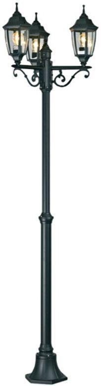 Светильник уличный Duwi Sheffield, регулируемый, цвет: черный, 1500-2010 мм. 25719 625719 6Садово-парковый наземный светильник столб-фонарь с тремя плафонами серии Sheffield выполнен в средневековом стиле. Высота 2010 см. Цвет: белый с золотом. Отличительная особенность - возможность сборки в двух размерах: 1500/2010мм.