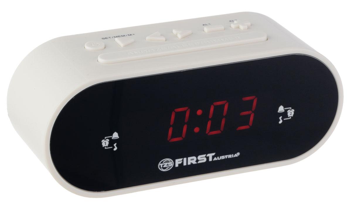 First FA-2406-5-WI радиочасыFA-2406-5-WIРадиочасы First FA-2406-5-WI LCD-дисплей 0.8 (красный).Подключение батареи 1x3V SR2032