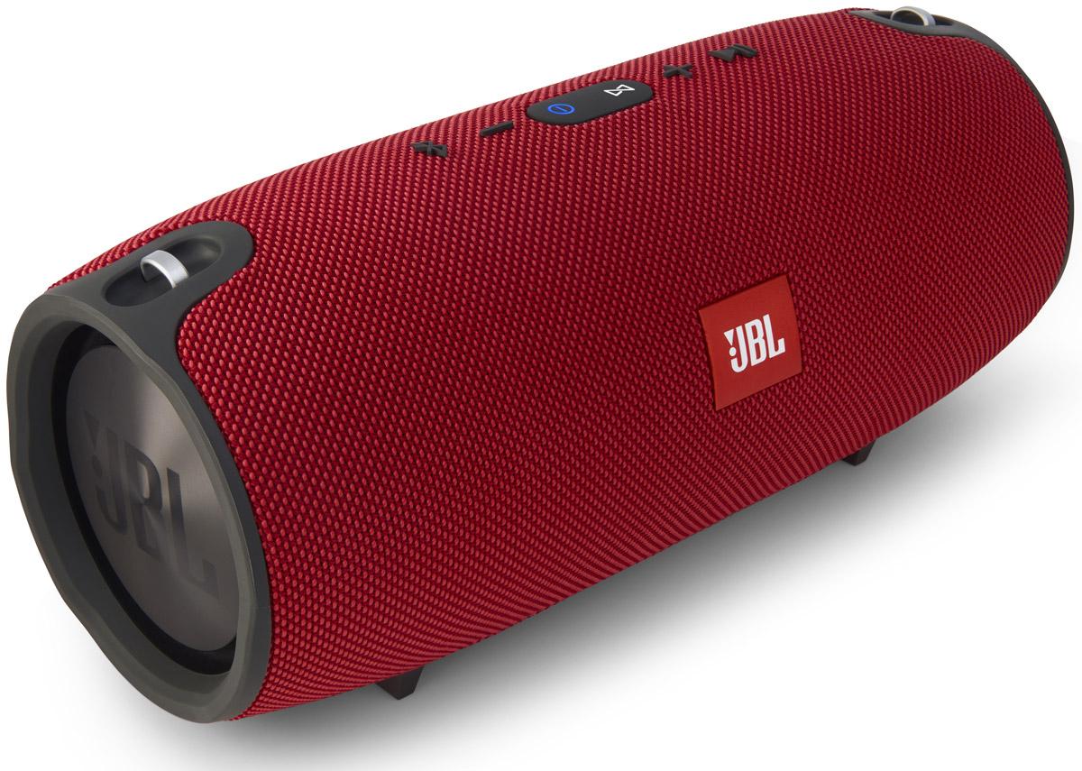 JBL Xtreme, Red акустическая система6925281904592JBL Xtreme - это полнофункциональный портативный Bluetooth-динамик, который легко воспроизводит потрясающе мощный стереозвук через четыре активных преобразователя и два видимых излучателя низких частот JBL. Динамик оснащен емким перезаряжаемым литий-ионным аккумулятором на 10000 мАч, обеспечивающим до 15 часов автономной работы, и двойным USB-выходом для зарядки, поэтому ваша музыка будет звучать, а устройства - работать так долго, сколько вам нужно. JBL Xtreme подарит вам нужные эмоции там, где требуется - как в помещении, так и на улице, на вечеринке у бассейна или на шашлыке на лужайке, - а симпатичная тканевая обивка эффективно защитит динамик от брызг. Кроме того, продукт оснащен спикерфоном с функциями шумоподавления и эхокомпенсации для четкой конференц-связи. Функция JBL Connect позволяет объединять в беспроводную сеть несколько колонок, поддерживающих эту функцию, и таким образом усиливать акустические ощущения от прослушивания.
