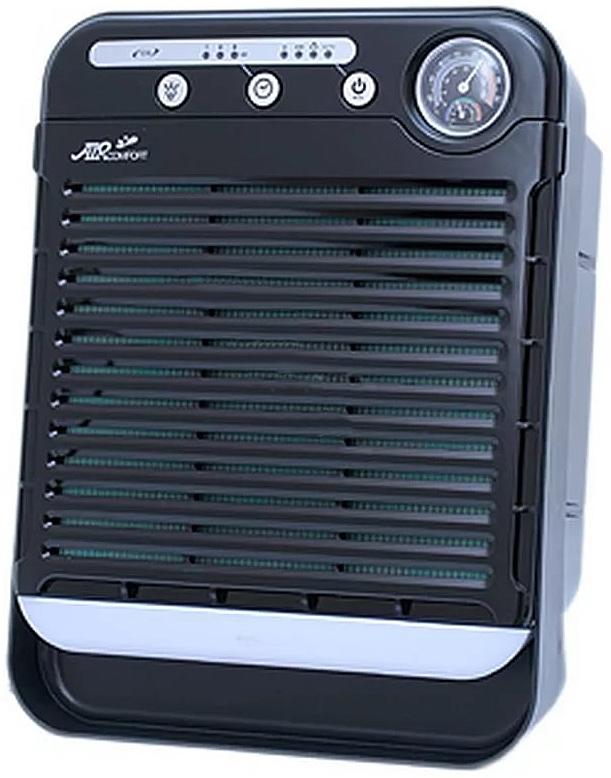 AirComfort GH-2173 воздухоочиститель00000000077Настольный очиститель воздуха AirComfort GH-2173 с многоступенчатой системой очистки воздуха состоящей из современного сложного фильтра (фильтр предварительной очистки — HEPA – угольный фильтр — цеолит) + генератор отрицательных ионов. 4 уровня выбора скорости, в том числе режим АВТО. Таймер на 1/4/8 часов. Подсветка из 7 цветов. Мощный вентилятор обеспечивает подачу большого объема воздуха при бесшумной работе.