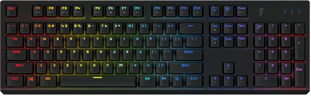Tesoro Gram Spectrum (Kailh Blue), Black игровая клавиатураTS-G11SFLGram Spectrum — это механическая клавиатура, оборудованная фирменными механическими переключателями от Tesoro – AGILE. Новые переключатели имеют уменьшенную высоту и длину хода по сравнению с переключателями стандартного размера. Однако, при всем этом, инженерам компании удалось сохранить основные характеристики полноразмерных кнопок – тактильные ощущения, скорость и точность срабатывания. Клавиатура Gram Spectrum имеет полноцветную RGB подсветку. В данной клавиатуре установлены переключатели AGILE Kailh Blue - выбор казуальных игроков и любителей активного общения. Чрезвычайно ускоряют набор текста. Имеют громкий щелчок и четкую отдачу.