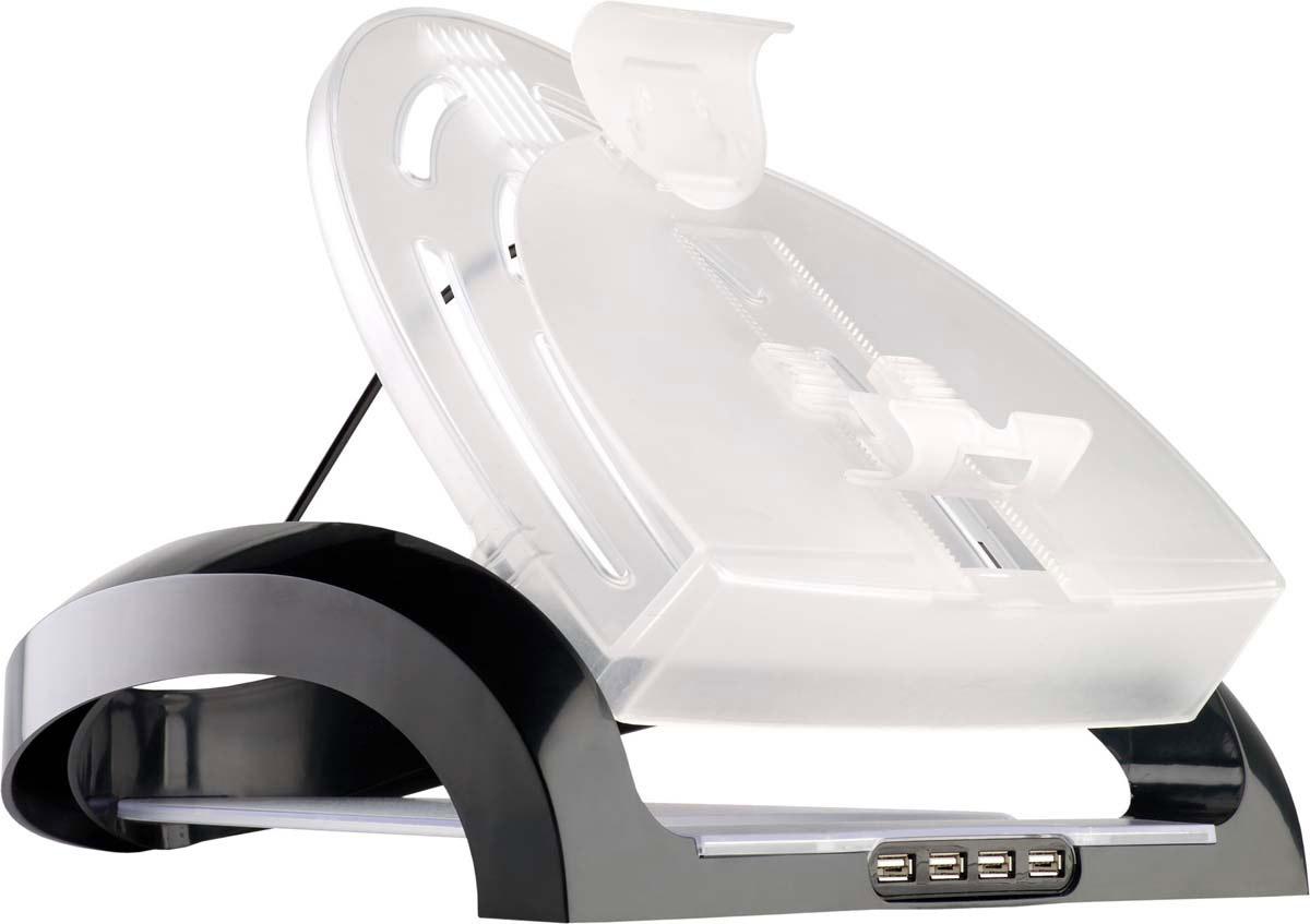 Fellowes FS-80248 подставка для ноутбуков, планшетов и смартфоновFS-80248Рабочая станция FS-80248 для ноутбука предназначена для создания комфортного рабочего места. Регулируемый угол наклона обеспечивает эргономичное расположение ноутбука, снижая вероятность возникновения напряжения шеи, плеч и глаз во время работы. Имеет встроенный USB HUB на 4 порта. Конструкция станции снижает нагрев ноутбука. Для организации документов и письменных принадлежностей предусмотрены копихолдер для документов, полка для бумаг и отделение для письменных принадлежностей