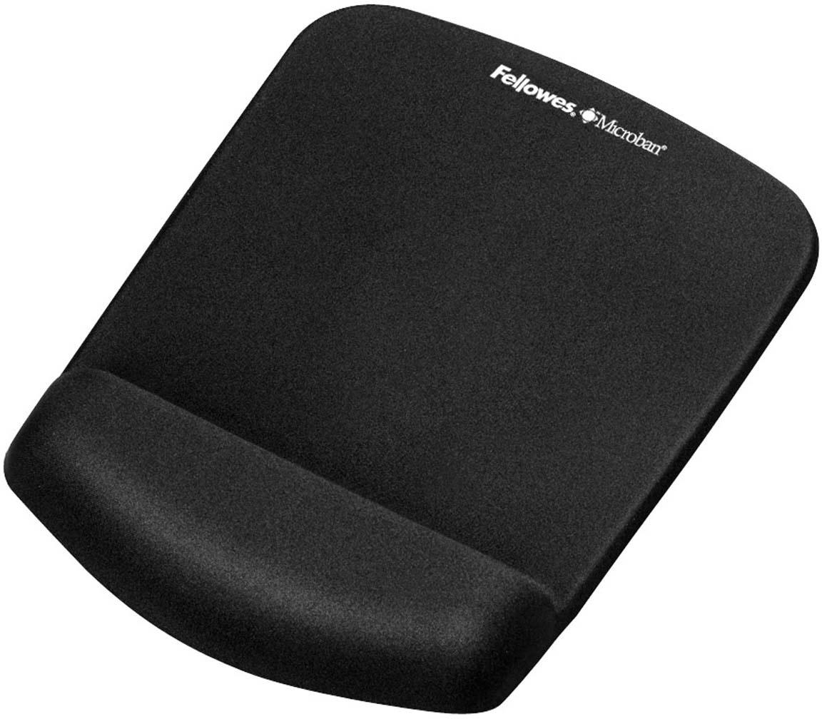 Fellowes PlushTouch, Black коврик для мышиFS-92520Основные свойства:Подходит для всех видов компьютерных мышей.Благодаря стильному дизайну и цветовым решениям, коврики станут украшением вашего рабочего места.Размеры коврика (ВхШхГ) мм.: 25х184х238.Инновационная технология FoamFusion – мягкое пенное основание повторяет контуры запястья и запоминает их, обеспечивая максимальный комфорт при работе.Антибактериальное покрытие Microban – подавляет развитие болезнетворных микроорганизмов на поверхности коврика.