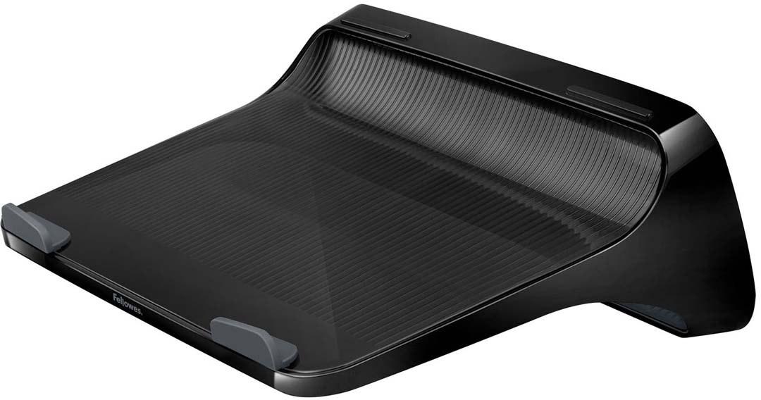 """Fellowes I-Spire Series, Black подставка для ноутбукаFS-94724Подставка для ноутбука с диагональю до 17 серии I-Spire. Приподнимает экран ноутбука на уровень глаз, тем самым снижая напряжение в области плечевого пояса и шеи. Эффективно защищает ноутбук от перегрева благодаря эргономичной форме с изгибами. Нескользящая поверхность обеспечивает устойчивое положение портативного ПК на подставке. Подходит для ноутбуков до 17"""", весом до 6 кг. Размер подставки: В110 х Ш327 х Г230 мм. Поставляется в сборе. Гарантия 1 год"""