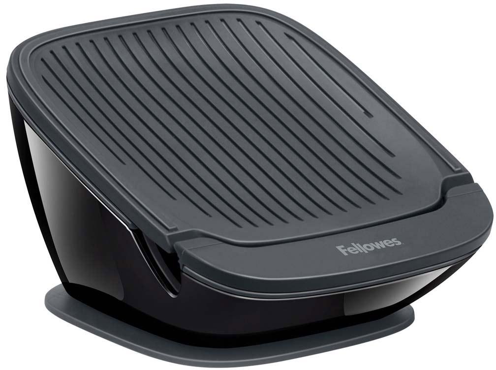 Fellowes Tablet SuctionStand I-Spire Series, Black подставка для планшетаFS-94735Подставка для планшетного ПК серии I-Spire Tablet SuctionStand надежно крепится к поверхности стола при помощи присоски. Поддерживающая устройство панель обладает звукоотражающими свойствами, что усиливает громкость динамиков и направляет звук вперед. Подставка приподнимает экран планшетного ПК на удобный угол обзора и обеспечивает наклон экрана на 20°, что делает просмотр более комфортным. Поставляется в сборе.