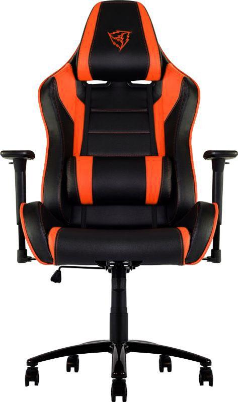 ThunderX3 TX3-30, Black Orange профессиональное геймерское креслоTX3-30BOМягкое комфортное геймерское кресло ThunderX3 TX3-30 имеет регулируемые подушки для шеи и поясницы. Подушку под шею возможно использовать по-разному, она позволяет шее отдыхать, поддерживая контуры вашей головы. Качаться вперед назад с любой силой и интенсивностью позволяет специально разработанный механизм. Садитесь прямо, откиньтесь назад либо повторяйте оба движения в заданном ритме. В кресле вам будет максимально комфортно даже при длительных игровых сессиях. Прочная металлическая основа Мягкий кожзам Тип механизма бабочка Пневматическая регулировка высоты сиденья 60 мм нейлоновые колесики Регулируемый подголовник Подушка под шею Регулирование положение сиденья с фиксацией Угол наклона спинки 3° - 18°.