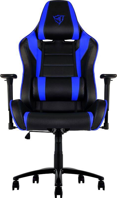 ThunderX3 TX3-30, Black Blue профессиональное геймерское креслоTX3-30BBМягкое комфортное геймерское кресло ThunderX3 TX3-30 имеет регулируемые подушки для шеи и поясницы. Подушку под шею возможно использовать по-разному, она позволяет шее отдыхать, поддерживая контуры вашей головы. Качаться вперед назад с любой силой и интенсивностью позволяет специально разработанный механизм. Садитесь прямо, откиньтесь назад либо повторяйте оба движения в заданном ритме. В кресле вам будет максимально комфортно даже при длительных игровых сессиях. Прочная металлическая основа Мягкий кожзам Тип механизма бабочка Пневматическая регулировка высоты сиденья 60 мм нейлоновые колесики Регулируемый подголовник Подушка под шею Регулирование положение сиденья с фиксацией Угол наклона спинки 3° - 18°.