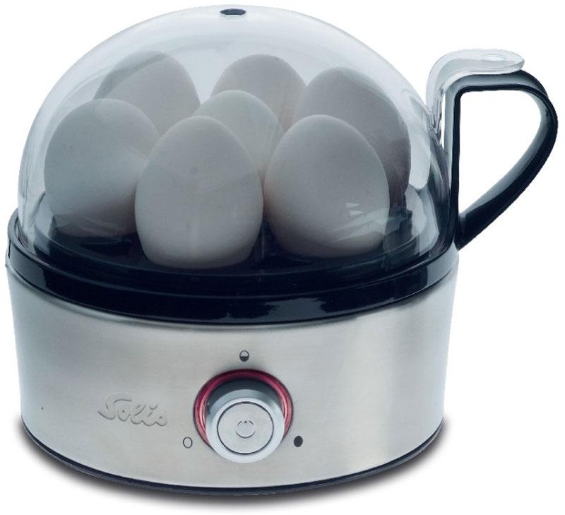 Solis Egg Boiler & More яйцеваркаEgg Boiler & MoreЯйцеварка Solis Egg Boiler & More имеет корпус из высококачественной нержавеющей стали. Прибор позволит приготовить до 7 яиц одновременно. Электронная регулировка времени приготовления Большая эргономичная ручка Cool Touch Большой светодиодный индикатор работы Акустический сигнал в конце приготовления Нескользящие ножки