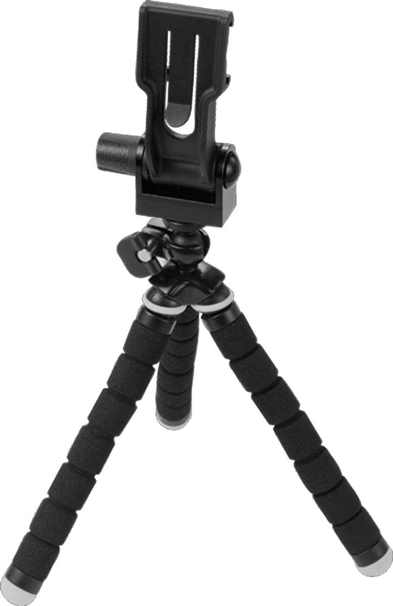 Optrix Tripod, Black штатив для смартфонаFS-94694Легкий и компактный штатив с гибкими ножками. Можно использовать как обычный штатив трипод, а также крепить к веткам деревьев, столбам и другим объектам для создания уникальных снимков. • Компактный и легкий • Комплект из 20 шт винтов (1/4) для крепления фотоаппаратов, видеокамер, в том числе для камер GoPro • Подходит для всех чехлов Optrix by Body Glove