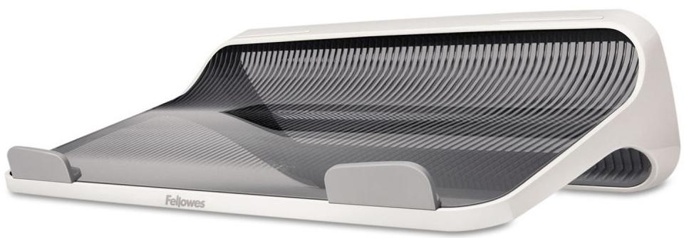 Fellowes I-Spire Series, White Grey подставка для ноутбукаFS-93112Подставка для ноутбука с диагональю до 17 серии Fellowes I-Spire. Эффективно защищает ноутбук от перегрева благодоря эргономичной форме с изгибами. Нескользящая поверхность обеспечивает устойчивое положение портативного ПК на подставке. Поставляется в сборе. Гарантия 1 год.