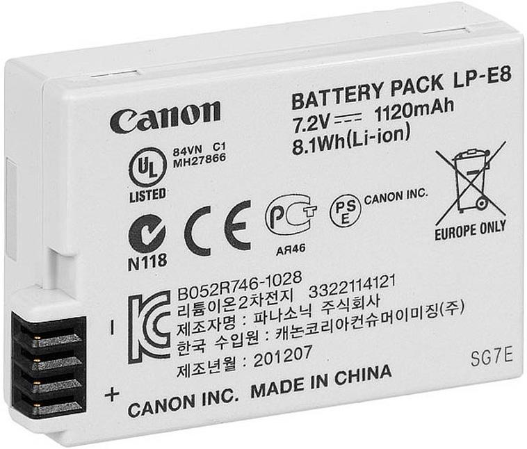 Canon LP-E8 аккумулятор для EOS 550D/ 600D 4515B002