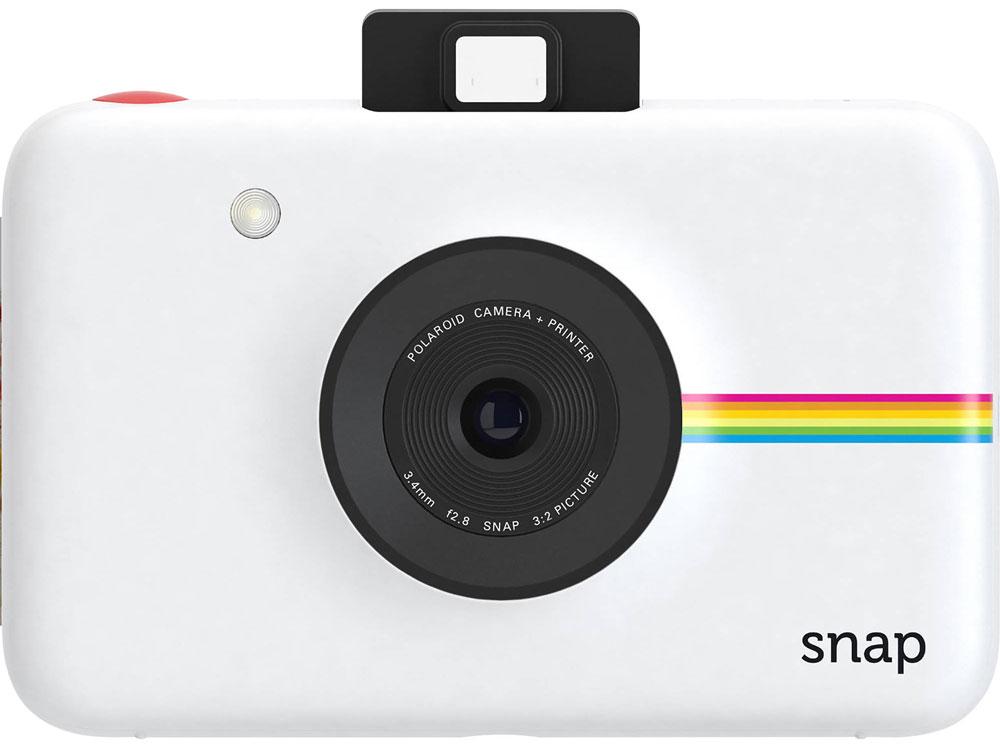 Polaroid Snap, White фотокамера мгновенной печатиPOLSP01WEPolaroid Snap - компактная камера, способная сразу распечатать полученный снимок. В устройстве используется технология ZINK, позволяющая получать отпечатки без использования чернил. Данная разработка уже успела зарекомендовать себя в других камерах Polaroid. Снимки разрешением 10 Мп мгновенно преобразуются в отпечатки размером 2х3 дюйма. Хранить фотографии можно на карте памяти microSD объёмом до 32 ГБ. Дополняют картину несколько сценариев съёмки, возможность выставить таймер, а также режим, в котором камера делает шесть снимков за 10 секунд. Формат отпечатков: 50 мм х 75 мм