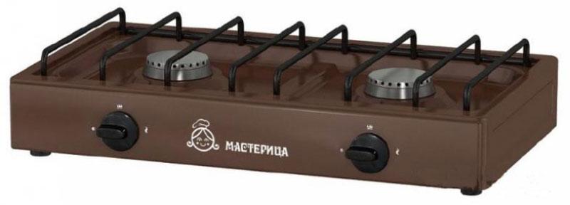 Мастерица 1217К, Brown плита газоваяМастерица -1217КНадежная газовая плитка Мастерица 1217К с двумя конфорками. Идеальна для дома и дачи, в любое время года. Подходит для газа из баллонов и природного газа. Компактный корпус, покрытый эмалью, позволяет легко мыть и ухаживать за прибором. Данная модель обладает большой мощностью горелок, что позволяет за несколько минут разогреть обед или вскипятить чайник с водой. Давление природного газа: 2000 Па Давление сжиженного газа: 3000 Па