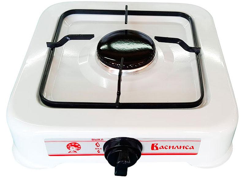 Василиса ГП1-540, White плитка газоваяГП1-540Надежная газовая плитка Василиса ГП1-540 с одной конфоркой. Идеальна для дома и дачи, в любое время года. Подходит для газа из баллонов и природного газа. Компактный корпус, покрытый эмалью, позволяет легко мыть и ухаживать за прибором. Данная модель имеет горелку мощностью 0,54 кВт, что позволяет за несколько минут разогреть обед или вскипятить чайник с водой. Расход газа: 0,128 кг/ч Давление газа: 2800 Па Вид сжиженного газа пропан/бутан Система розжига горелки: ручная Максимальный вес посуды на 1 конфорку: 10 кг