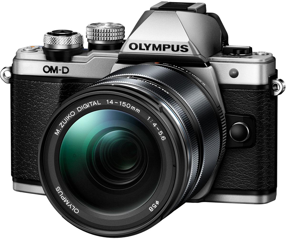 Olympus OM-D E-M10 Mark II Kit 14-150 II, Silver фотокамераV207054SE000Olympus OM-D E-M10 - тонкая, красивая, лёгкая системная камера, лучшая по соотношению цена/качество в своём классе. Беззеркальная камера системы Микро 4/3 укомплектована самыми последними технологиями: большим электронным видоискателем, высокоскоростным автофокусом, встроенным модулем Wi-Fi, а также встроенной вспышкой. E-M10 оставляет позади зеркальные камеры как по размеру, так и по качеству изображения! Е-М10 делает процесс фотографии простым. Камеру приятно держать в руках благодаря бескомпромиссному качеству сборки и эргономичности. Интуитивное управление, высокая скорость работы, электронный видоискатель (ЭВИ) высокого разрешения и ультраскоростной 81-точечный автофокус FAST AF предоставят вам полный контроль над съёмкой. Встроенный в камеру 3-осевой стабилизатор VCM обеспечит резкие изображения без смазов. Фотоаппарат награждён престижной премией Продукт года. Он гарантирует высочайшее качество снимков, скорость фокусировки E-M5 и...
