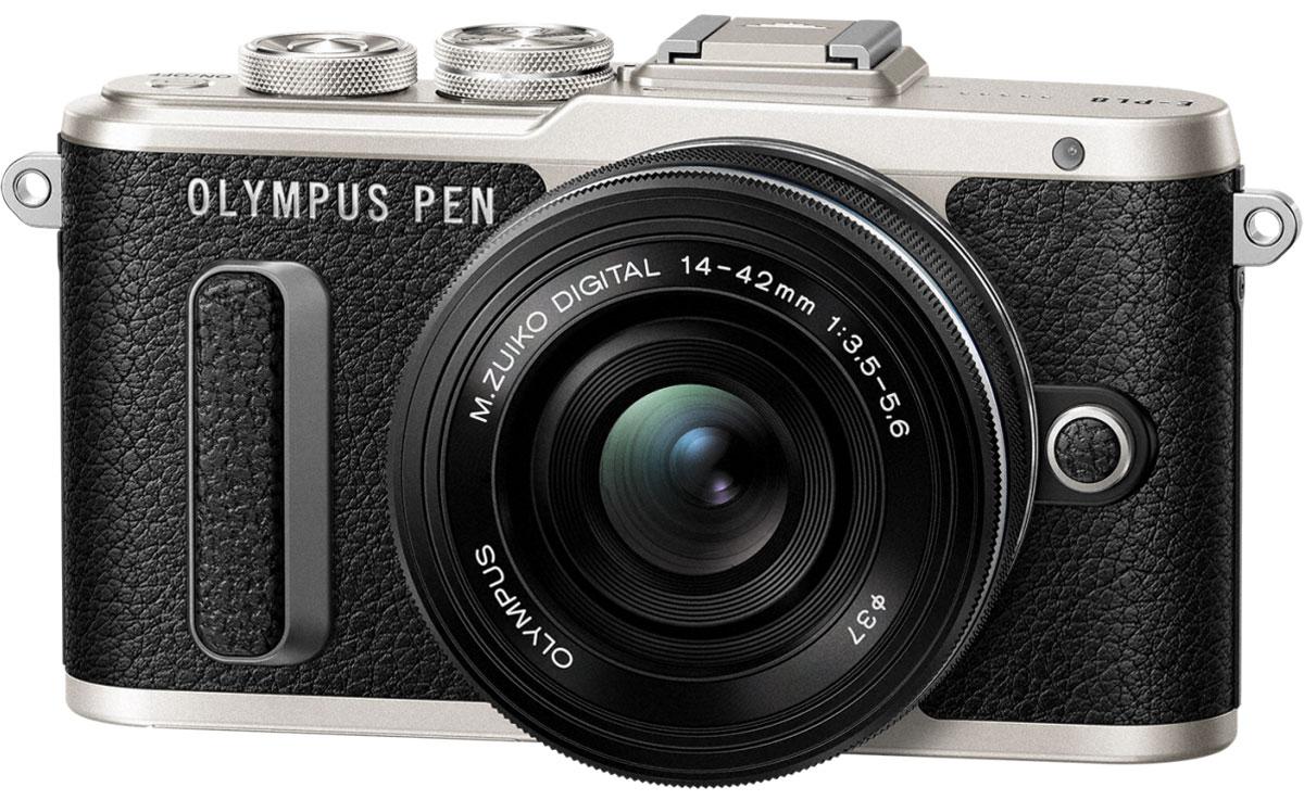 Olympus PEN E-PL8 Kit 14-42 EZ, Black фотокамераV205082BE000Фотокамера Olympus PEN E-PL8 станет вашей персональной музой! Стильный корпус в темно-коричневом цвете и других классических оттенках выделит эту камеру среди самых ожидаемых новинок этого года. Современный дизайн, удобный функционал, классические изгибы и кожаная отделка металлического корпуса делает камеру такой же яркой и привлекательной, как и вы.Мы все любим селфи! Но все, кто когда-либо пытался сделать хороший снимок, знают, что селфи само по себе уже стало искусством, и нужно уметь все сделать правильно. С новой камерой Olympus ваши селфи будут выглядеть идеально с первого кадра. Поверните сенсорный экран вниз, и камера автоматически перейдет в режим селфи.С камерой Olympus PEN E-PL8 вы можете делиться захватывающими моментами своей жизни, разнообразные художественные фильтры расширят ваш творческий потенциал и вдохнут в ваши изображения особенное настроение. Эффекты художественных фильтров в режиме Live View позволят вам увидеть готовый результат снимков.Иногда одно фото может сказать больше чем тысяча слов. И иногда одно видео может сказать больше чем тысяча фотографий. Всегда будут моменты и события, которым необходимо движение. Благодаря добавленной функции съемки, вы можете снимать видеоклипы в формате HD, соединять множество коротких видео, добавлять музыку по желанию и сохранять их на своем смартфоне.Незабываемые моменты становятся более приятными, когда мы можем поделиться ими с остальными. Вот почему Olympus E-PL8 имеет встроенный Wi-Fi и приложение Olympus Image Share, позволяя вам делиться своими эмоциями с друзьями и подписчиками, где бы Вы ни находились. В вашем профиле в Facebook и Instagram всегда будут снимки высокого качества.