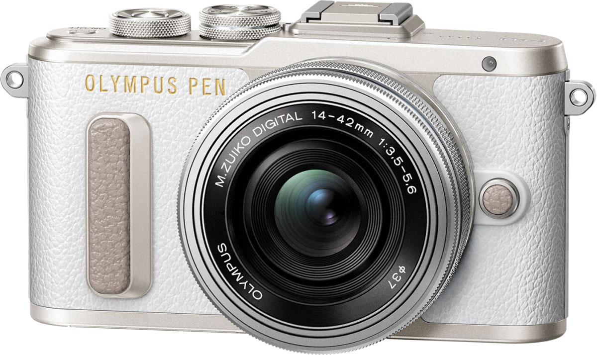 Olympus PEN E-PL8 Kit 14-42 EZ, White фотокамераV205082WE000Фотокамера Olympus PEN E-PL8 станет вашей персональной музой! Стильный корпус в темно-коричневом цвете и других классических оттенках выделит эту камеру среди самых ожидаемых новинок этого года. Современный дизайн, удобный функционал, классические изгибы и кожаная отделка металлического корпуса делает камеру такой же яркой и привлекательной, как и вы. Мы все любим селфи! Но все, кто когда-либо пытался сделать хороший снимок, знают, что селфи само по себе уже стало искусством, и нужно уметь все сделать правильно. С новой камерой Olympus ваши селфи будут выглядеть идеально с первого кадра. Поверните сенсорный экран вниз, и камера автоматически перейдет в режим селфи. С камерой Olympus PEN E-PL8 вы можете делиться захватывающими моментами своей жизни, разнообразные художественные фильтры расширят ваш творческий потенциал и вдохнут в ваши изображения особенное настроение. Эффекты художественных фильтров в режиме Live View позволят вам увидеть готовый результат...