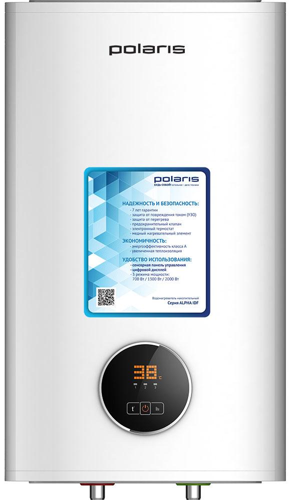 Polaris Alpha IDF 100V водонагреватель накопительный007353Накопительный электрический водонагреватель Polaris Alpha IDF 100V способен нагревать большой объем воды и в автоматическом режиме поддерживать необходимый температурный режим. Главное достоинство такого устройства заключается, прежде всего, в его экономичности, которую обеспечивает сравнительно невысокая мощность, а также отличная теплоизоляция, позволяющая воде на протяжении длительного периода времени оставаться горячей. Благодаря тому, что внутренние стенки бака нагревателя изготовлены из нержавеющей стали высокого качества, устройство обладает повышенной коррозиестойкостью. Корпус имеет плоскую форму, что является огромным преимуществом при установке водонагревателя в малогабаритных помещениях. Регулировать скорость нагрева воды можно путем изменения мощности. Всего предусмотрено три режима: экономный – 700 Вт, стандартный – 1300 Вт и быстрый нагрев – 2000 Вт. Когда температура воды в баке поднимается до заданной отметки,...