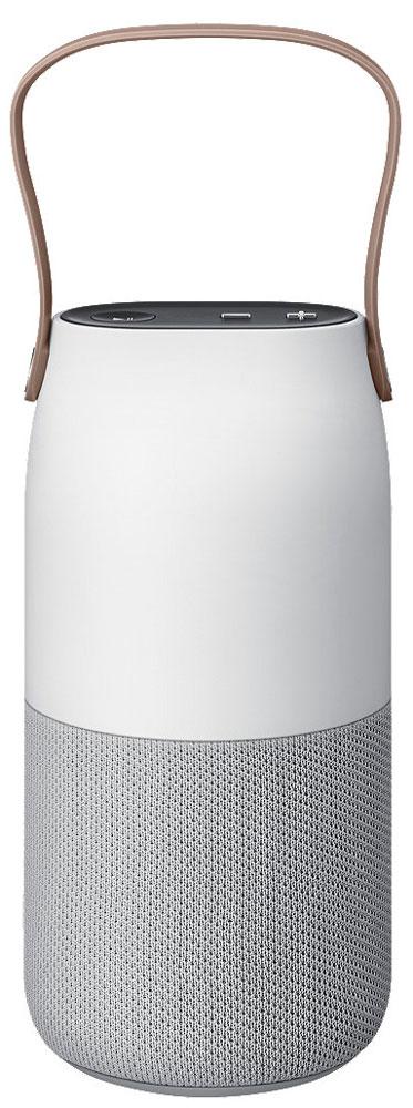 Samsung EO-SG710 Bottle Design, White Gray портативная акустическая системаEO-SG710CSEGRUКачественный звук подчёркивает ваше чувство стиля. Кроме этого, внешняя эстетика и премиальные материалы добавят утончённой атмосферы практически любому помещению, которое вы хотели бы осветить. Наслаждайтесь музыкой в любой точке комнаты. Беспроводная колонка Bottle Design от Samsung с функцией распределения звука 360° обеспечит равномерное качественное звучание. Звук способен поддержать ваше настроение. Благодаря специальной ручке для максимальной мобильности и широкому спектру световых эффектов вы сможете разнообразить атмосферу любого помещения, куда бы вы ни поместили Bottle Design. Просто разместите вашу беспроводную колонку Bottle Design на подставке для беспроводной зарядки и наслаждайтесь прослушиванием музыки без необходимости путаться в проводах и постоянно подбираться к труднодоступной розетке. Создайте уютную атмосферу в любом месте за считанные секунды. Наклоните устройство для изменения яркости или потрясите для...