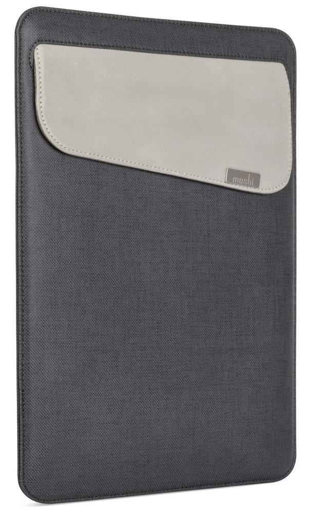 Moshi Muse Slim Fit Carrying Case чехол для Apple MacBook 12, Black99MO034003Moshi Muse Slim Fit Carrying - это чехол для MacBook, ориентированный на активных людей. Без молний и липучек, он позволяет вам хранить и оберегать MacBook от каких бы то ни было царапин. Прочная внешняя поверхность защищает аппаратуру от небольших царапин и повреждений, а мягкая внутренняя подкладка Terahedron из микрофибры позволяет стирать следы от пальцев прямо в процессе переноски устройства. Muse снабжен надёжной застёжкой SlipGrip, исключающей случайное раскрытие чехла и выпадение MacBook, даже если он оказался в перевёрнутом положении. Moshi Muse Slim Fit Carrying также оснащён внешним карманом для удобного хранения кабелей и адаптеров.