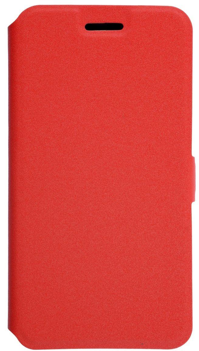 Prime Book чехол для LG K10 (2017), Red2000000135106Чехол надежно защищает ваш смартфон от внешних воздействий, грязи, пыли, брызг. Он также поможет при ударах и падениях, не позволив образоваться на корпусе царапинам и потертостям. Чехол обеспечивает свободный доступ ко всем функциональным кнопкам смартфона и камере.