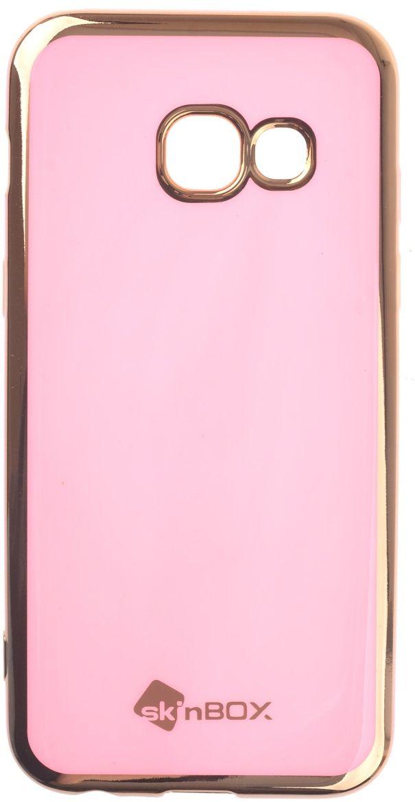 Skinbox Silicone чехол для Samsung Galaxy A3 (2017), Powder2000000135526Чехол надежно защищает ваш смартфон от внешних воздействий, грязи, пыли, брызг. Он также поможет при ударах и падениях, не позволив образоваться на корпусе царапинам и потертостям. Чехол обеспечивает свободный доступ ко всем функциональным кнопкам смартфона и камере.