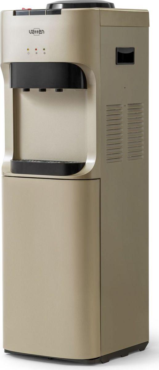 Vatten V45QKB, Champagne кулер для воды4931Кулер VATTEN V45QKBмощность нагрева 650 ВТ, охлаждения 120 вт. Произ-ть хол/гор- 2/6 л/час, хол-ик 20 лкомпрессорное охлаждение, три кнопки, (холодная, горячая, комнатная) напольный