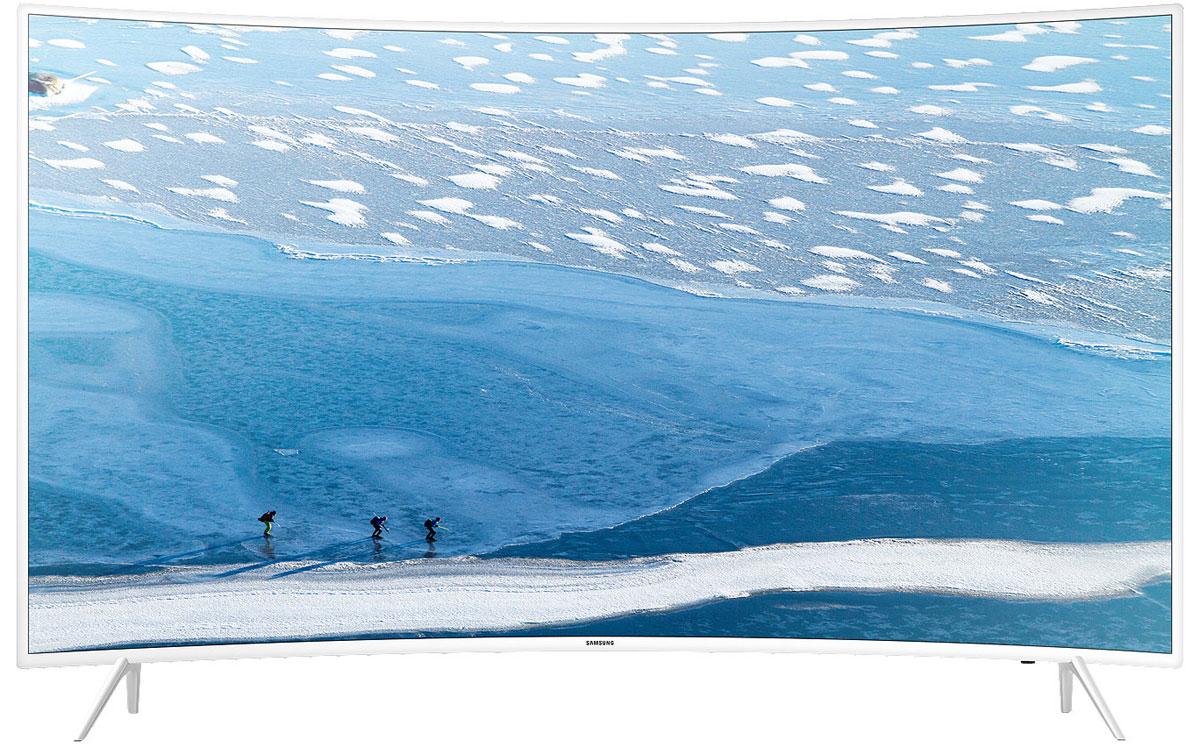 Samsung UE55KU6510 телевизорUE55KU6510UXRUТелевизор Samsung UE55KU6510 с белой рамкой создает ощущение невесомости и прозрачности. Особая форма экрана делает комфортным просмотр фильмов и передач и увеличивает угол обзора. Функция HDR Premium обеспечивает более четкую видимость светлых участков изображения, тем самым увеличивая детализацию. Разрешение Ultra HD в 4 раза превосходит привычное Full HD. Оно позволяет добиться максимальной естественности.Сервис Smart Hub предоставляет доступ к трем разделам - социальным сетям, приложениям, а также фото, видео и музыке. При включении телевизора часто используемый контент загружается автоматически. Технология Samsung UHD Picture Engine конвертирует изображение низкого качества в Ultra HD всего за 4 шага, а Ultra Clean View убирает видимые шумы. UHD Dimming использует локальное затемнение для достижения большего контраста и четкости. Технология выводит изображения на новый уровень. За счет четырехъядерного процессора телевизор быстрее реагирует на запросы. Он остается отзывчивым и быстрым даже в условиях многозадачности. Скачав на мобильное устройство приложение Samsung Smart View, можно использовать планшет или смартфон в качестве пульта дистанционного управления, а также передавать данные на большой экран. Беспроводной выход в сеть помогает использовать все возможность Smart ТВ - общение, загрузку приложений, воспроизведение эфирных каналов и потокового видео. С функцией ConnectShare передача медиафайлов с USB-накопителя на экран упрощена - достаточно вставить носитель в соответствующий разъем на задней панели телевизора.