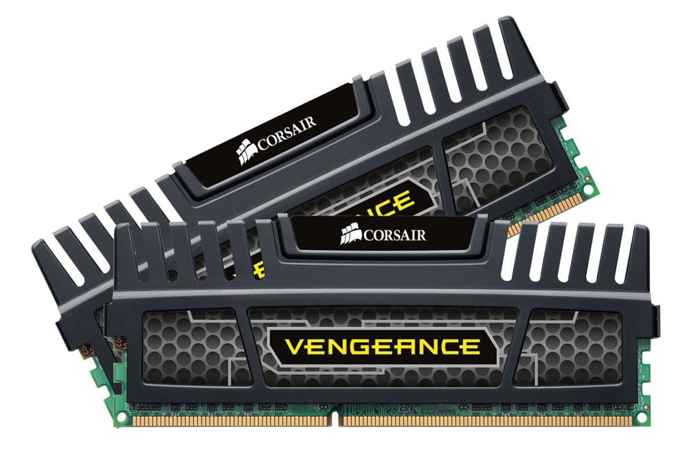 Corsair Vengeance DDR3 2х8Gb 1600 МГц, Black комплект модулей оперативной памяти (CMZ16GX3M2A1600C10)CMZ16GX3M2A1600C10Модули Corsair Vengeance DDR3 разработаны с учетом потребностей оверклокеров. В Vengeance DIMM используются микросхемы ОЗУ, отобранные специально для обеспечения высокого потенциала производительности. Алюминиевый радиатор модуля осуществляет теплоотвод и служит элементом агрессивного дизайна, который отлично подходит для геймерских компьютеров. Модуль памяти Vengeance специально разработан для новейших процессоров. Модуль Vengeance работает при напряжении 1,5 В, что обеспечивает максимальную совместимость со всеми процессорами Intel Core i3, i5 и i7, в том числе с процессорами семейства Intel 2-го поколения.