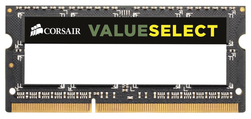 Corsair ValueSelect SO-DIMM DDR3 4Gb 1600 МГц модуль оперативной памяти (CMSO4GX3M1A1600C11)CMSO4GX3M1A1600C11Модуль памяти Corsair ValueSelect SO-DIMM DDR3 разработан для опережения отраслевых стандартов, чтобы гарантировать максимальную совместимость практически со всеми ноутбуками на Intel и AMD. Он собран из лучших компонентов и тщательно проверен для обеспечения стабильной и надежной работы. С помощью высокопроизводительного модуля Corsair ValueSelect SO-DIMM DDR3 ваш ноутбук автоматически определит самую высокую частоту, которую поддерживает память для наилучшей работы.