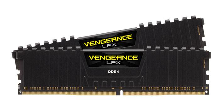 Corsair Vengeance LPX DDR4 2x16Gb 2400 МГц, Black комплект модулей оперативной памяти (CMK32GX4M2Z2400C16)CMK32GX4M2Z2400C16Модули памяти Vengeance LPX разработаны для более эффективного разгона процессора. Теплоотвод выполнен из чистого алюминия, что ускоряет рассеяние тепла, а восьмислойная печатная плата значительно эффективнее распределяет тепло и предоставляет обширные возможности для разгона. Каждая интегральная микросхема проходит индивидуальный отбор для определения уровня потенциальной производительности.Форм-фактор DDR4 оптимизирован под новейшие материнские платы серии Intel X99/100 Series и обеспечивает повышенную частоту, расширенную полосу пропускания и сниженное энергопотребление по сравнению с модулями DDR3. В целях обеспечения стабильно высокой производительности модули Vengeance LPX DDR4 проходят тестирование совместимости на материнских платах серии X99/100 Series. Имеется поддержка XMP 2.0 для удобного разгона в автоматическом режиме.Максимальная степень разгона ограничивается рабочей температурой. Уникальный дизайн теплоотвода Vengeance LPX обеспечивает оптимальный отвод тепла от интегральных микросхем в канал охлаждения системы, чтобы вы могли добиться большего.Vengeance LPX будет готов к появлению первых материнских плат Mini-ITX и MicroATX для памяти DDR4. Его компактный форм-фактор оптимально подходит для размещения в небольших корпусах или в системах, где требуется оставить свободным максимум внутреннего пространства.