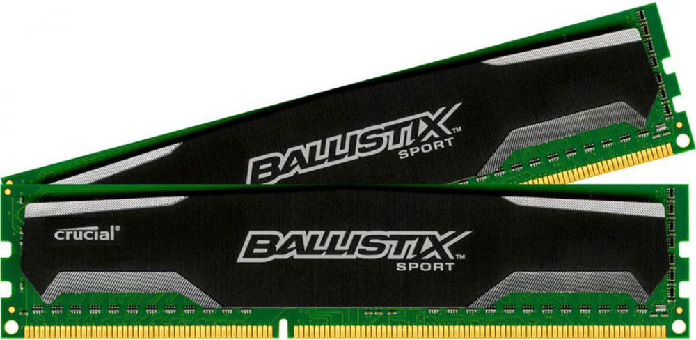 Crucial Ballistix Sport DDR3 2х4Gb 1600 МГц комплект модулей оперативной памяти (BLS2CP4G3D1609DS1S00CEU)BLS2CP4G3D1609DS1S00CEUМодули оперативной памяти Crucial Ballistix Sport типа DDR3 предоставляют качество работы, надежность и производительность, требуемую для современных компьютеров сегодня. Оснащены теплоотводом, выполненным из чистого алюминия, что ускоряет рассеяние тепла.Общий объем памяти составляет 8 ГБ, что позволит свободно работать со стандартными, офисными и профессиональными ресурсоемкими программами, а также современными требовательными играми. Работа осуществляется при тактовой частоте 1600 МГц и пропускной способности, достигающей до 12800 Мб/с, что гарантирует качественную синхронизацию и быструю передачу данных, а также возможность выполнения множества действий в единицу времени. Параметры тайминга 9-9-9-24 гарантируют быструю работу системы.