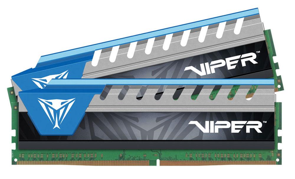 Patriot Viper Elite DDR4 2x8Gb 3000 МГц, Blue комплект модулей оперативной памяти (PVE416G300C6KBL)PVE416G300C6KBLМодули оперативной памяти Patriot Viper Elite DDR4 созданы для новейших платформ Intel. Обеспечивают наилучшую производительность и стабильность даже для самых требовательных компьютерных сред. Радиатор ускоряет рассеивание тепла, что обеспечивает высокую производительность модуля.Общий объем памяти в 16 ГБ позволит свободно работать со стандартными, офисными и профессиональными ресурсоемкими программами, а также современными требовательными играми. Работа осуществляется при тактовой частоте 3000 МГц и пропускной способности, достигающей до 24000 Мб/с, что гарантирует качественную синхронизацию и быструю передачу данных, а также возможность выполнения множества действий в единицу времени. Параметры тайминга 16-16-16-36 гарантируют быструю работу системы. Имеется поддержка XMP для удобного разгона в автоматическом режиме.Модули памяти Patriot изготовлены из материалов высочайшего качества и протестированы вручную. Patriot заверяет, что каждый модуль памяти соответствует и превышает стандарты отрасли: апгрейд безо всяких замешательств.