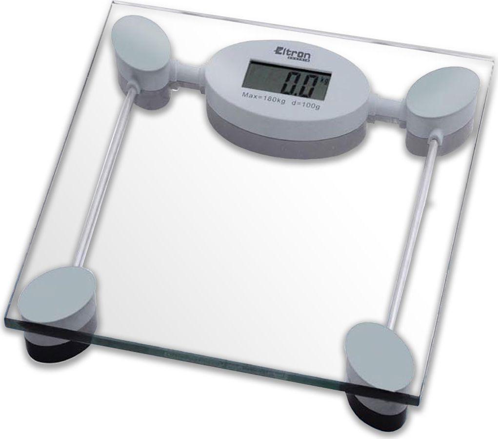 Весы напольные Eltron, электронные, цвет: прозрачный, до 180 кг. 9219EL9219ELЦифровые напольные квадратные весы на стеклянной платформе. Жидкокристаллический экран. Максимальный вес 180 кг. Шаг измерения - 0.1 кг.1х3В батарея входит в комплект.Размер: 28 х 28 х 3,3 см.