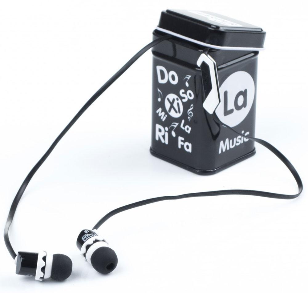 Harper Kids HK-66, Black наушники00-00001206Наушники-вкладыши Harper Kids HK-66 перекрывают весь спектр слышимых человеческим ухом звуковых частот (они работают в диапазоне от 17 до 21 000 Гц). Это позволяет наслаждаться любимой музыкой даже тем, кто предъявляет повышенные требования к качеству звука.Встроенный микрофон превращает наушники Harper HK-66 в телефонную гарнитуру – ответ на звонок или завершение вызова производится при помощи кнопки на проводе наушников.Твердый футляр прямоугольной формы поставляется в комплекте с наушниками. В нем они не подвергаются негативному воздействию окружающей среды (не пылятся, не намокают, не запутываются в других вещах, как это бывает при переноске в сумочке или кармане).Яркие цветовые решения наушников и футляров делают этот аксессуар стильным и оригинальным дополнением к любой одежде, причем носить их могут как взрослые, так и дети.Одна единственная кнопка, которой оснащены наушники, выполняет сразу несколько функций: позволяет принимать/завершать звонки, перематывать и переключать треки, воспроизводить музыку, ставить трек на паузу.