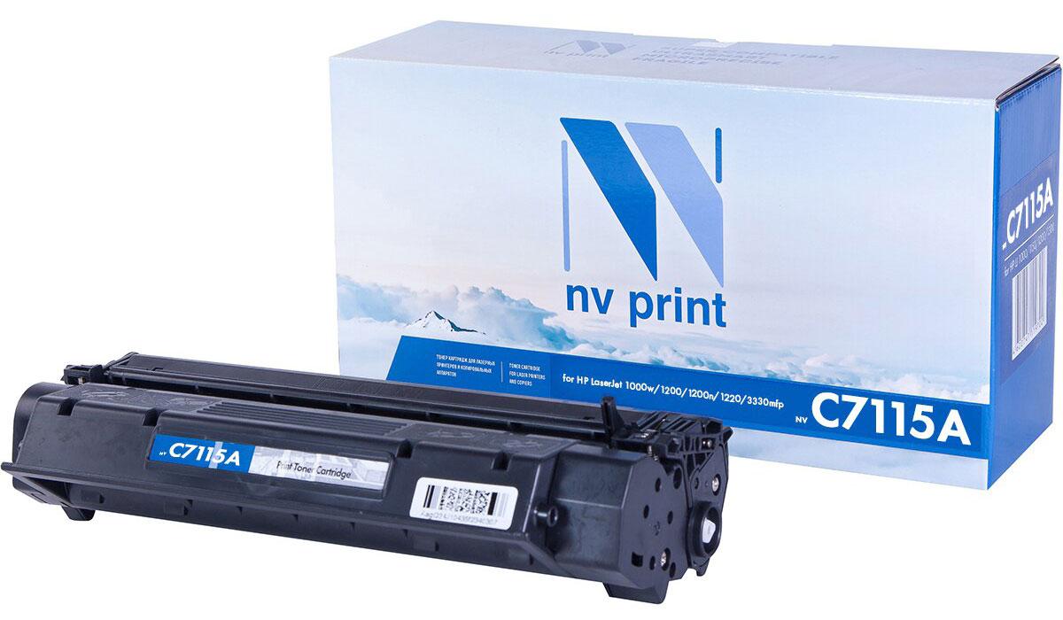 NV Print C7115A, Black тонер-картридж для HP LaserJet 1200/1200A/1200N/1220/3300/3320/3330/3380NV-C7115AСовместимый лазерный картридж NV Print C7115A для печатающих устройств HP - это альтернатива приобретению оригинальных расходных материалов. При этом качество печати остается высоким. Картридж обеспечивает повышенную чёткость чёрного текста и плавность переходов оттенков серого цвета и полутонов, позволяет отображать мельчайшие детали изображения.Лазерные принтеры, копировальные аппараты и МФУ являются более выгодными в печати, чем струйные устройства, так как лазерных картриджей хватает на значительно большее количество отпечатков, чем обычных. Для печати в данном случае используются не чернила, а тонер.