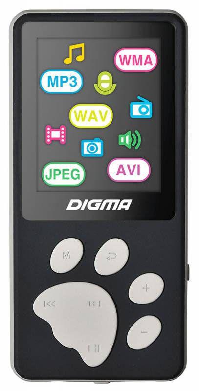 Digma S3 4Gb, Black Gray MP3-плеерS3BGАудиодекодер: 8-48 кГц CBR/VBR