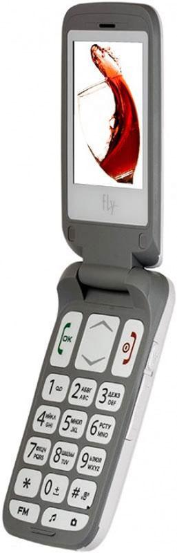 Fly Ezzy Trendy 3, White9585Fly Ezzy Trendy 3 - раскладной мобильный телефон с поддержкой двух сим-карт и увеличенным размером клавиш.Телефон оснащен двумя слотами для сим-карт, что позволяет удобно комбинировать тарифные планы разных операторов для удобного и выгодного общения.Модель обладает полноцветным экраном с диагональю 2,4 дюйма, очень удобным для настройки или поиска контактов в телефонной книге.Клавиатура телефона с большими клавишами дополнена крупными надписями, которые хорошо читаются. Такой аппарат придется по вкусу детям или пожилым людям, страдающим нарушениями зрения.Телефон сертифицирован EAC и имеет русифицированную клавиатуру, меню и Руководство пользователя.
