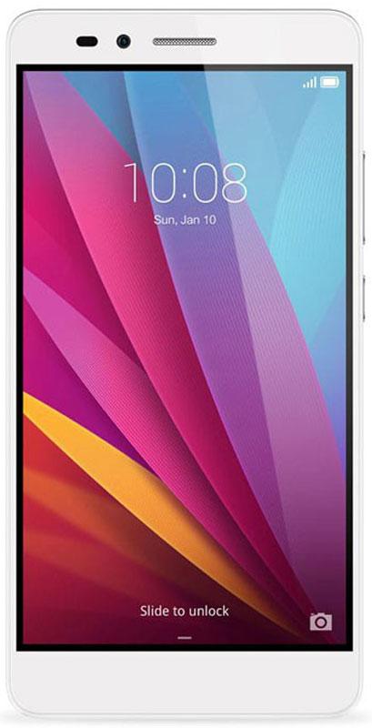 Huawei Honor 5X, Silver51090DRHСмартфон Huawei Honor 5X элегантно выглядит, хорошо лежит в руке, позволяет комфортно общаться как при помощи телефонных звонков или SMS, так и в интернете.Специальная обработка задней панели придаёт эргономичность корпусу смартфона.Сканер второго поколения имеет округлую форму для точного определения отпечатка пальца, под любым углом за 0,5 секунды Самообучающийся датчик запоминает особенности отпечатка пальца каждый раз, когда вы используете сканер для разблокировки и управления смартфоном и увеличивает скорость разблокировки.Лёгкий старт: всего шесть прикосновений для сохранения отпечатка и начала работы. Конфиденциальность: защита персональных данных, ограниченный доступ к приложениям, режим гостя.Управление панелью уведомлений: проведя пальцем по сканеру сверху вниз вы откроете панель уведомлений, двойное прикосновение закроет все уведомления.Процессор Qualcomm Snapdragon и технология big.LITTLE - высокая производительность и низкое энергопотребление. Лёгкий запуск 3D игр и высоконагруженных программ благодаря графическому процессору.Одновременная работа трёх разъёмов - nano-SIM, micro-SIM и карта памяти microSD 4G может работать на обеих SIM-картах. Никаких различий в работе первой и второй SIM-карт. Антенна смартфона предоставляет высокую пропускную способность.Камера 13 Мпикс имеет широкий угол обзора 28 мм. Линза состоит из пяти элементов. Процессор SmartImage 3.0 используется для автоматической обработки изображений.Антибликовое покрытие увеличивает количество попадающего в объектив света и позволяет создавать чёткие фотографии даже в условиях низкой освещённости.В режиме замедленной съёмки камера записывает видео 120 кадров/секунду и воспроизводит в четыре раза медленнее оригинала.Настройки конфиденциальности позволяют скрывать приложения на экране Домой хранить личные файлы в безопасном месте и защищать вашу конфиденциальную информацию.Динамик и усилитель гарантируют кристально чистое звучание при разговоре и прослушивании 