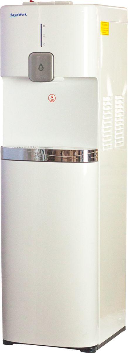 Aqua Work 1665S кулер для воды20021AW YL1665S (белый) напольный, компрессор, бутыль внутри